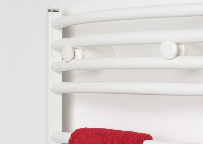 Walshaw Arched Towel Rail - White 2